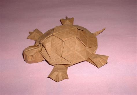 Origami Tortoise - turtle chevrier gilad s origami page