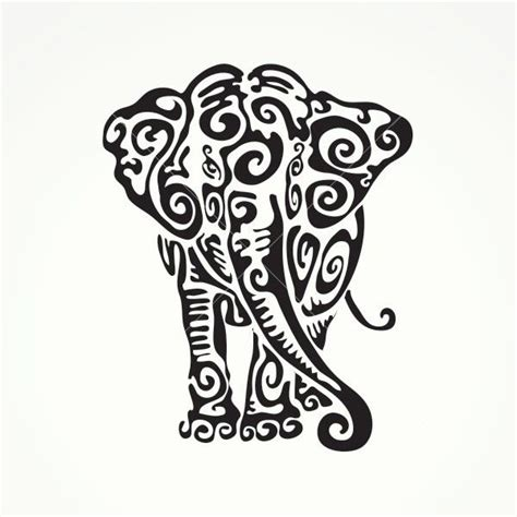 Elephant Tattoo Clipart | elephant clipart tribal pencil and in color elephant