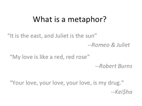 what is a sun what is a metaphor