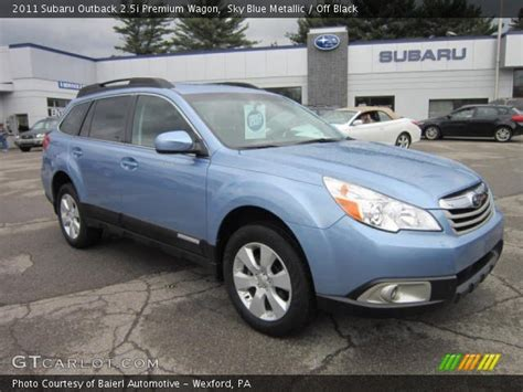 2011 subaru outback 2 5i premium wagon rare 6 speed manual for sale in saskatoon sky blue metallic 2011 subaru outback 2 5i premium wagon off black interior gtcarlot com