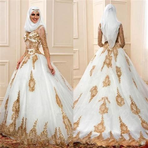 wedding muslim modern discount modern muslim wedding dresses 3 4 sleeves with