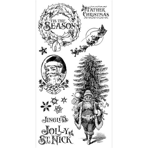 graphic 45 rubber sts graphic 45 st nicholas 1 rubber cling sts by