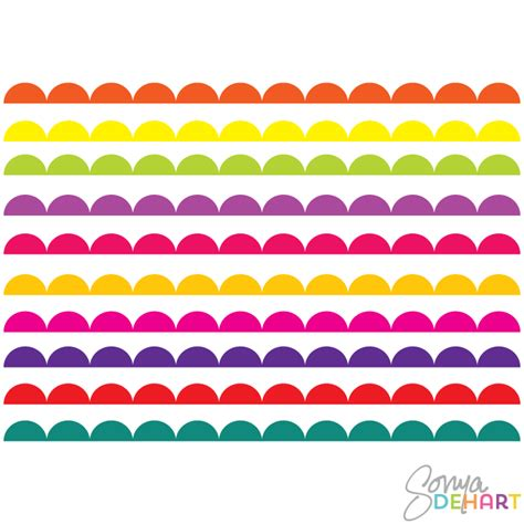 Scalloped Border Clipart vector clip bright scalloped borders