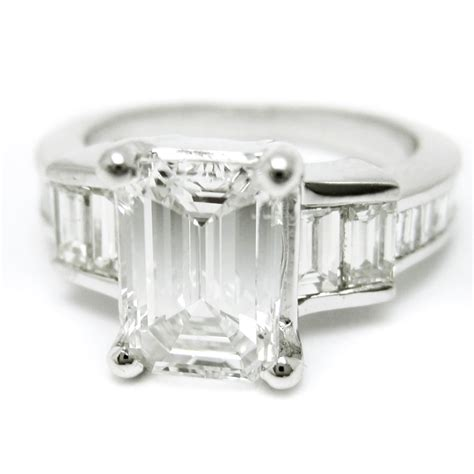 emerald cut engagement ring with emerald cut