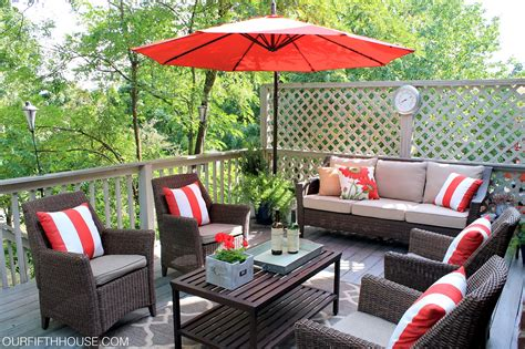 Porch And Patio Furniture Outdoor Living Deck Updates Our Fifth House