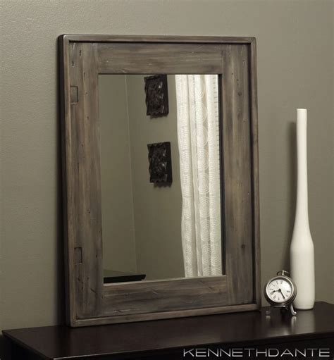 wood framed mirrors rustic wall mirrors milwaukee 17 best images about modern rustic home on pinterest