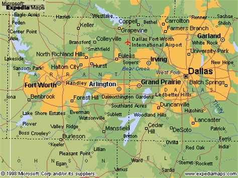 texas map arlington arlington texas map