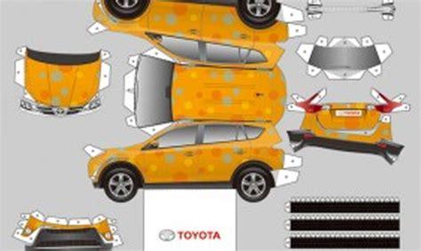 Toyota Papercraft - build yourself a toyota rav4 toyota