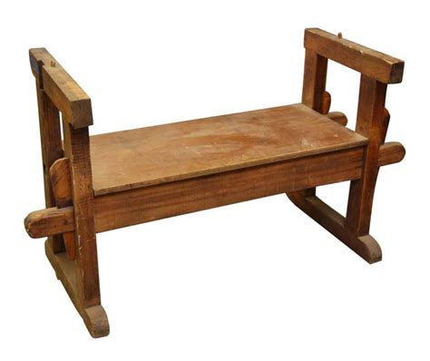 vintage wooden bench vintage wooden bench with sides olde good things