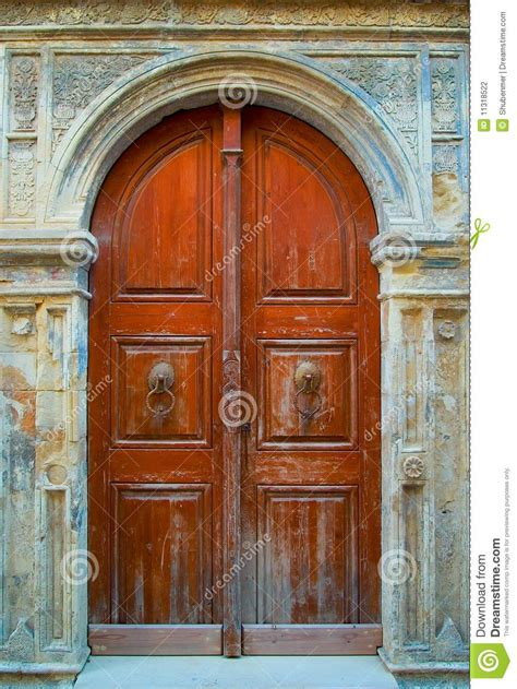 Free Download Residential Building Plans old wooden door stock photography image 11318522