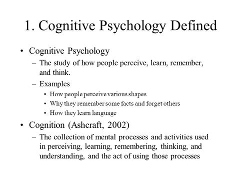introduction to cognitive psychology ppt