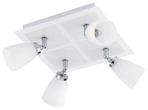 4x33w square ceiling track light chrome white finish