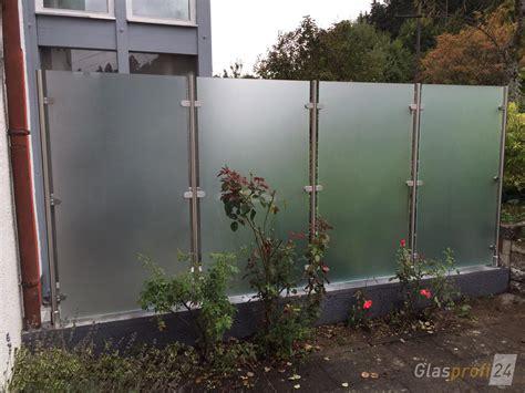 Glas Sichtschutz Garten