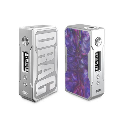 Drag Voopoo Mod Authentic voopoo drag silver frame resin edition mod electronic cigarettes e liquids pakistan