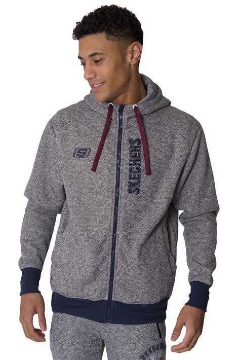 Skechers Jacket by Skechers Mens Sweat Hoodie Casual Zip Up Hoody Coat