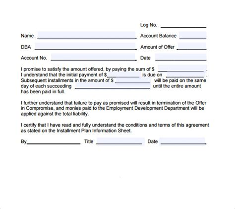payment agreement template sle payment agreement 18 documents in pdf