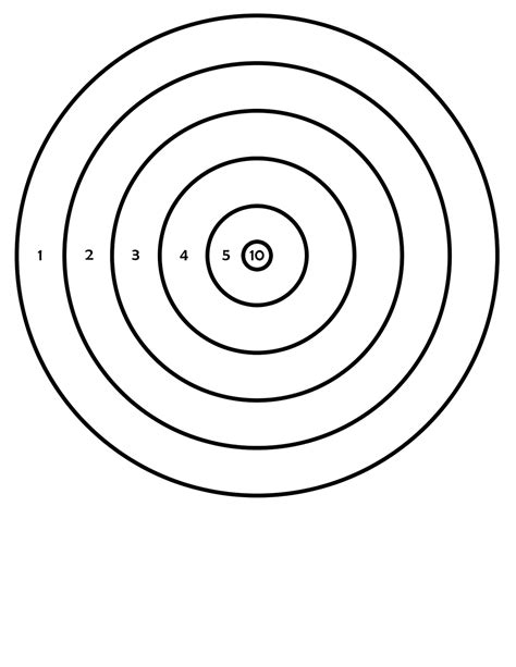 printable rifle pistol targets shooting bb gun targets printable