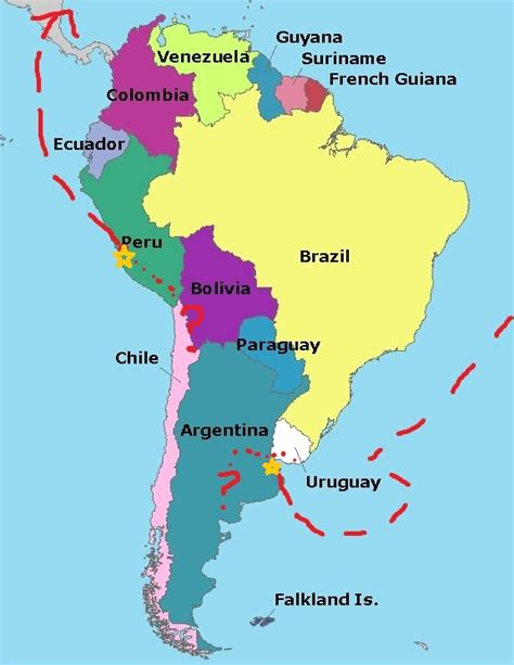 south america map for an adventure on a grand scale europe south america