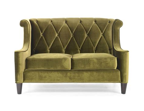barrister loveseat barrister loveseat green velvet lc8442green decor
