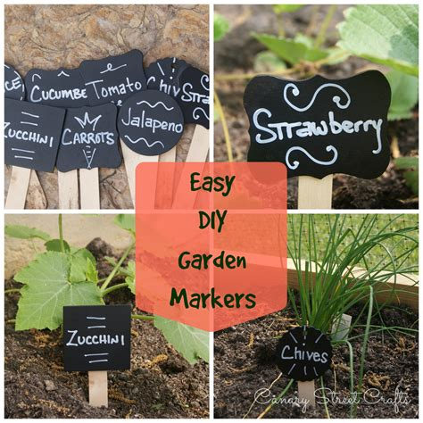 Make Plant - easy diy garden plant markers canary crafts