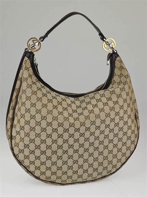 Bag Gucci Hobo Canvas 9102 Semprem gucci beige gg canvas large hobo bag yoogi s closet