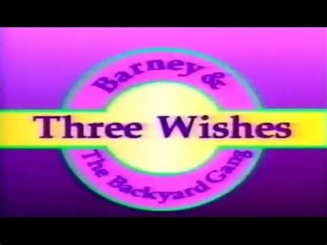 barney backyard gang three wishes barney three wishes custom theme backyard gang version