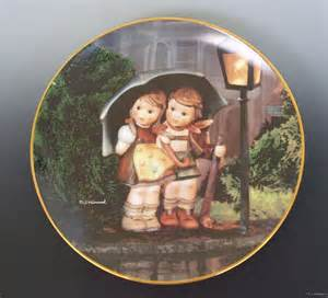 hummel danbury plate little companions stormy weather collectible