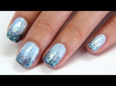 nail art glitter tips tutorial glitter gradient nail tutorial quot drunken french quot youtube