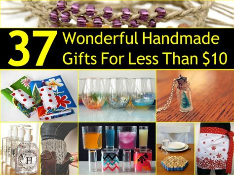 Handmade Gifts 2014 - 37 wonderful handmade gifts for less than 10