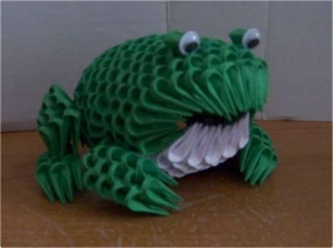 3d Origami Frog - 3d origami frog by bloodshard on deviantart