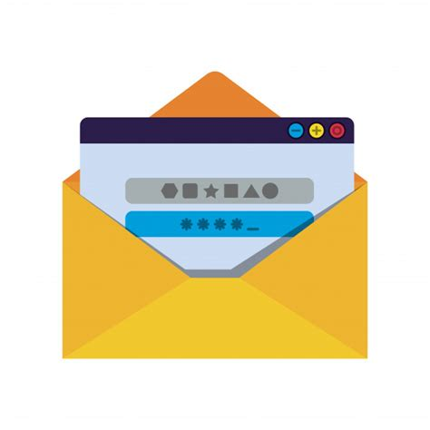open letter  password message isolated icons premium