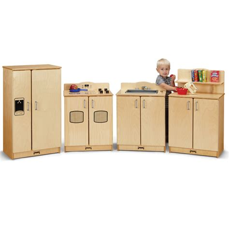 preschool kitchen furniture jonti craft 4 birch kitchen set refrigerator stove sink and cupboard 2411jc