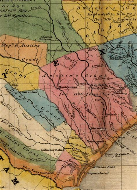 texas land grants map texas land grants 1835 historic map galveston 20x24 ebay