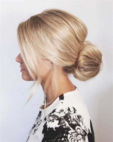 Messy Low Bun Hairstyles for Ladies   Long Hairstyles 2017 & Long Haircuts 2017