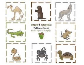 desert animals printable preschool printables