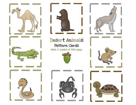 printable animal cards desert animals printable preschool printables