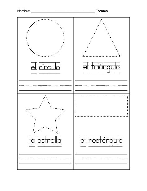 printable shapes in spanish free coloring pages of shapes and colors in spanish