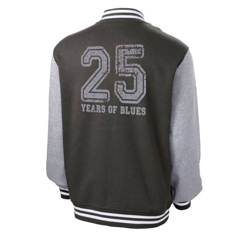 Lettermans 25th Anniversary by 25th Anniversary Logo Letterman Jacket W Name Embroidered
