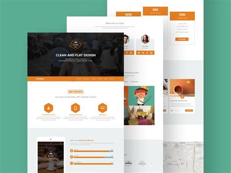 single page brochure templates psd 37 free one page psd website templates utemplates