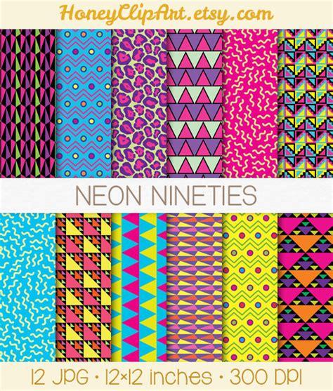 paper pattern web design retro digital paper 90s patterns neon digital paper