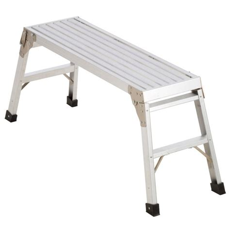 aluminum step bench werner aluminum scaffold work platform lowe s canada