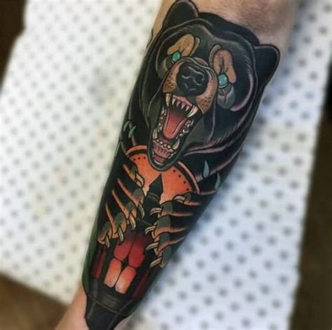 animal tattoo on forearm 60 outstanding bear tattoos designs styles collection