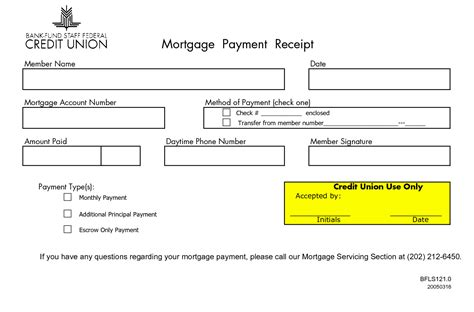 monthly mortgage receipts mortgage payment receipt