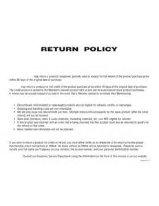 Return Policy Template by Return Policy Template