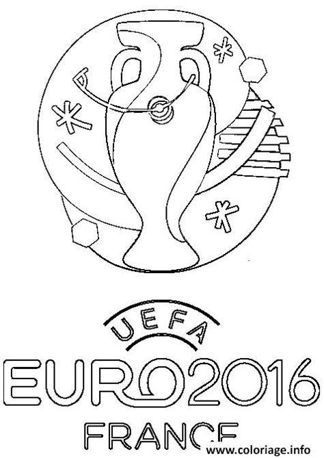 euro coloring page coloriage logo euro 2016 france football foot dessin