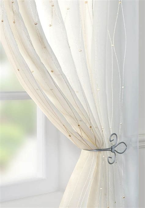 Harmony Voile Curtain Panel Cream Free Uk Delivery