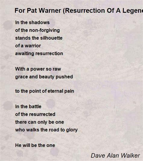 resurrection shadows of omega volume 1 books for pat warner resurrection of a legend poem by dave