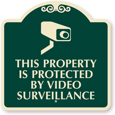 free security cctv and no trespassing signs