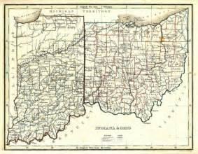 Indiana Ohio Map by Denny Denney Heritage Amp Nostalgia