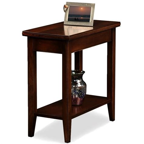 cherry wood end tables furniture leick furniture laurent solid wood rectangular end table